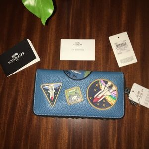 Coach Accordion Zip Wallet with Space Patches